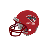 Riddell Replica Red Mini Helmet-Mad Jack Western