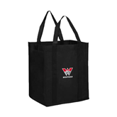 Non Woven Black Grocery Tote-W Western