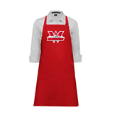 Full Length Red Apron-Interlocking W Mountaineers - Official Logo