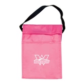 Koozie Pink Lunch Sack-Interlocking W Mountaineers - Official Logo