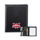 Carbon Fiber Tech Padfolio-Interlocking W Mountaineers - Official Logo