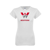 Next Level Ladies SoftStyle Junior Fitted White Tee-W Western