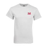 White T Shirt-Interlocking W Mountaineers - Official Logo