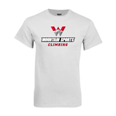 White T Shirt-Climbing