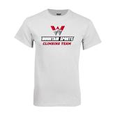 White T Shirt-Climbing Team
