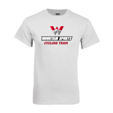White T Shirt-Cycling Team