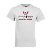 White T Shirt-Mountain Biking
