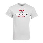 White T Shirt-Ski Team