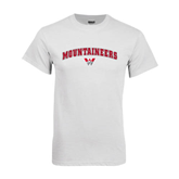 White T Shirt-Arched Mountaineers w/ W