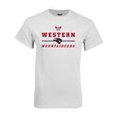 White T Shirt-Western Mountaineers Stacked w W and Mad Jack