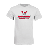 White T Shirt-Wrestling