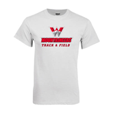 White T Shirt-Track and Field