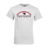 White T Shirt-Arched Football Design