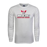 White Long Sleeve T Shirt-Mountain Biking
