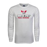 White Long Sleeve T Shirt-Trail Running
