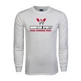 White Long Sleeve T Shirt-Trail Running Team