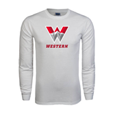 White Long Sleeve T Shirt-W Western