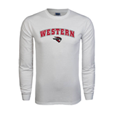 White Long Sleeve T Shirt-Arched Western w/ Mad Jack