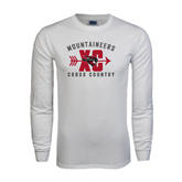White Long Sleeve T Shirt-Cross Country Design