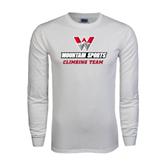 White Long Sleeve T Shirt-Climbing Team