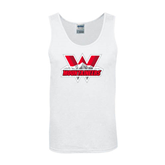 White Tank Top-Interlocking W Mountaineers - Official Logo