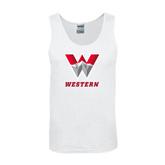 White Tank Top-W Western