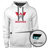 Contemporary Sofspun White Hoodie-W Western