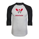 White/Black Raglan Baseball T-Shirt-W Western