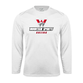 Performance White Longsleeve Shirt-Skiing