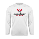 Performance White Longsleeve Shirt-Ski Team