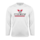Performance White Longsleeve Shirt-Snowboarding