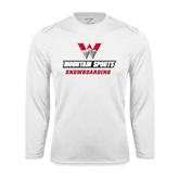 Syntrel Performance White Longsleeve Shirt-Snowboarding