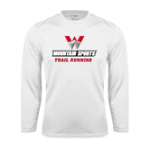 Performance White Longsleeve Shirt-Trail Running