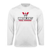 Syntrel Performance White Longsleeve Shirt-Trail Running