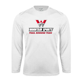 Performance White Longsleeve Shirt-Trail Running Team