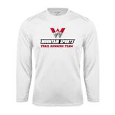 Syntrel Performance White Longsleeve Shirt-Trail Running Team