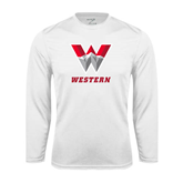 Performance White Longsleeve Shirt-W Western