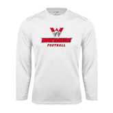 Syntrel Performance White Longsleeve Shirt-Football