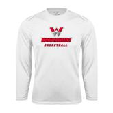 Syntrel Performance White Longsleeve Shirt-Basketball