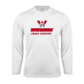 Syntrel Performance White Longsleeve Shirt-Cross Country