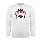 Syntrel Performance White Longsleeve Shirt-Basketball in Ball