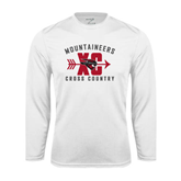 Performance White Longsleeve Shirt-Cross Country Design