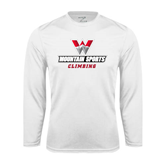 Performance White Longsleeve Shirt-Climbing