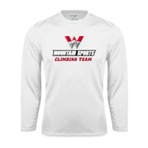 Performance White Longsleeve Shirt-Climbing Team