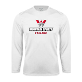 Syntrel Performance White Longsleeve Shirt-Cycling