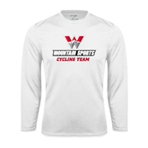 Performance White Longsleeve Shirt-Cycling Team