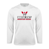 Performance White Longsleeve Shirt-Mountain Biking