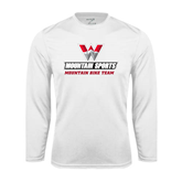 Performance White Longsleeve Shirt-Mountain Bike Team