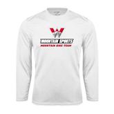 Syntrel Performance White Longsleeve Shirt-Mountain Bike Team