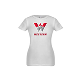 Youth Girls White Fashion Fit T Shirt-W Western